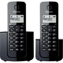 Telefone sem Fio com ID Base + Ramal KX-TGB112LBB Preto PANA - Panasonic