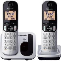 Telefone sem Fio com ID Base + Ramal KX-TGC212LB1 Cinza PANASONIC -