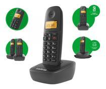 Telefone sem fio com id e display ts 2510 preto - intelbras -