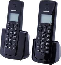 Telefone sem Fio com Identificador Base + Ramal KX-TGB112LBB Preto Panasonic -
