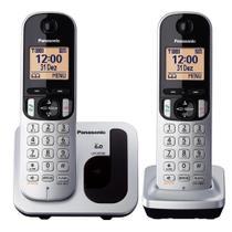 Telefone Sem Fio Com Identificador de Chamadas + 1 Ramal Panasonic DECT 6.0 Prata - KX-TGC212LB1 -