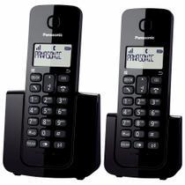 Telefone Sem Fio Com Identificador de Chamadas + 1 Ramal Panasonic DECT 6.0 Preto - KX-TGB112LBB -
