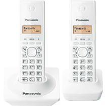 Telefone sem Fio com Identificador de Chamadas KX-TG1712LBW Branco Panasonic -