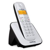 Telefone Sem Fio Com Identificador TS 3110 Branco e Preto Intelbras -