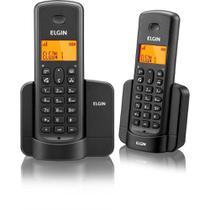 Telefone Sem Fio com Indentificador + Ramal Tsf-8002 Preto Elgin - Bivolt -