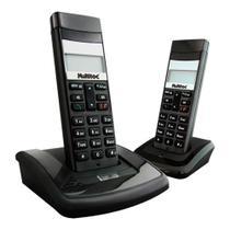 Telefone Sem Fio Com Ramal DECT Identificador de Chamadas Função PABX - Multitoc