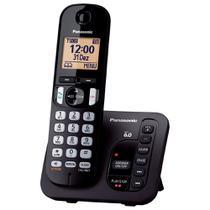 Telefone Sem Fio Com Secretária Eletrônica e ID Panasonic DECT 6.0 Preto - KX-TGC220LBB -