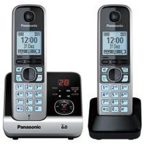 Telefone sem fio DECT6.0 Panasonic KX-TG6722LBB 110/220V com ramal e secretária eletronica -