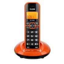 Telefone sem Fio Elgin TSF 7600 com Identificador de Chamada Laranja -