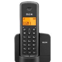 Telefone Sem Fio Elgin TSF 8001 - Identificador de Chamada Viva Voz Preto -