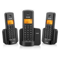 Telefone Sem fio Elgin TSF 8003 Preto 2 ramais -