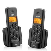 Telefone Sem Fio Elgin TSF8002 + 1 Ramal - Identificador de Chamada Viva Voz Preto -