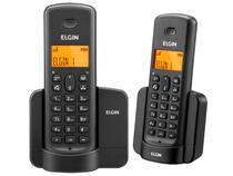 Telefone Sem Fio Elgin TSF8002 + 1 Ramal - Identificador de Chamada Viva Voz Preto