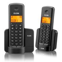 Telefone Sem Fio Elgin TSF8002 + 1 Ramal Viva Voz Preto -
