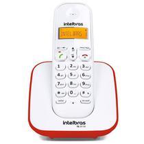 Telefone sem Fio Intelbras, com Identificador de Chamada, Vermelho - TS3110 -