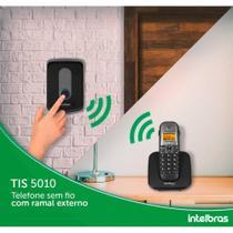 Telefone Sem Fio Intelbras Com Ramal Externo Tis 5010 - Preto -