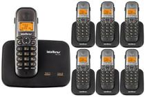 Telefone Sem Fio Intelbras TS 5150 2 Linhas 1,9 GHz DECT 6.0 + 6 Ramal Sem Fio TS 5121 1,9 GHz DECT 6.0 -