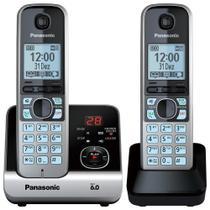 Telefone sem Fio KX-TG6722LBB Preto ID. Chamadas, Viva-Voz, Secretária Eletrônica + Ramal - Panasonic -
