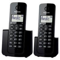 Telefone sem Fio KX-TGB112LBB Preto com Identificador de Chamadas + Ramal - Panasonic -