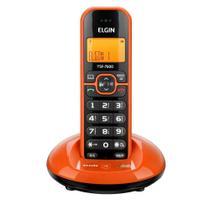 Telefone sem fio laranja com identificador de chamadas elgin tsf7600 -