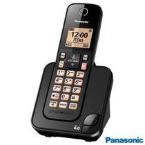 """Telefone sem Fio Panasonic com Display de 1,6"""", Viva-voz e Identificador de Chamadas Preto - KX-TGC350LBB -"""