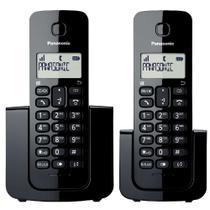 Telefone sem fio Panasonic combo (2 telefones) KX-TGB112LBB Preto -