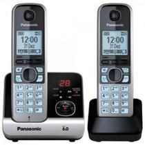 Telefone sem fio panasonic kx-tg6722lbb com 2 ramais bivolt -
