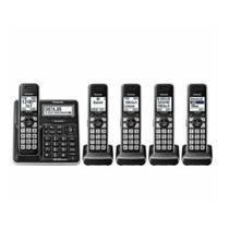 Telefone Sem Fio Panasonic KX-TG985 5 Bases Fones De Ouvido Bluetooth Preto -