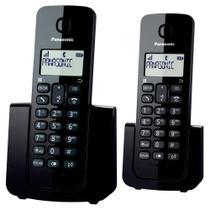 Telefone sem Fio Panasonic KX-TGB112LBB com Identificador de Chamada + 1 Ramal - Preto -