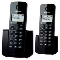 Telefone Sem Fio Panasonic KX-TGB112LBB Preto - Identificador de chamadas + Ramal -