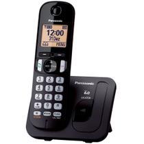 Telefone Sem Fio Panasonic KX-TGC210LBB - Identificador de Chamada Viva Voz Preto -
