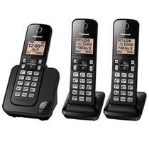Telefone Sem Fio Panasonic KX-TGC353 com Identificador de Chamadas Preto -