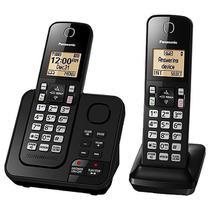 Telefone Sem Fio Panasonic KX-TGC362 com Bloqueio de Chamadas Preto -