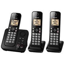Telefone Sem Fio Panasonic KX-TGC363 com Bloqueio de Chamadas Preto -