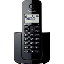 Telefone Sem Fio Panasonic Preto Tgb110 Lbb C/ Identificador -