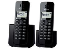 Telefone Sem Fio Panasonic TGB112 + 1 Ramal - Identificador de Chamada Black Piano -