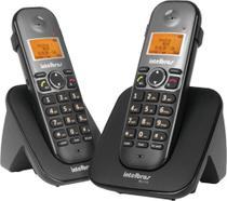 Telefone Sem Fio + Ramal Id C/ Entrada Para Fone De Ouvido Ts 5122 Preto 4125122 - Intelbras