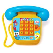 Telefone sonoro galinha pintadinha mini - elka brinquedos -