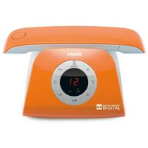 Telefone Vtech Retrô Phone Sem Fio Digital Id. Chamadas Viva-Voz Sec. Eletrônica Laranja -