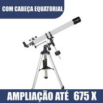 Telescópio Refrator F90070EQ Equatorial Constellation - Greika