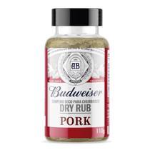 Tempero seco para churrasco Budweiser Dry Rub Pork 110g - Budwiser