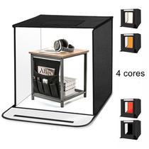 Tenda Mini Studio Portátil 60x60 Lâmpada Interna LED - Oem