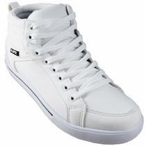 Tenis Ark 2111702 Cano Alto Branco/preto -