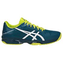 Tenis Asics Gel Solution Speed 3 Ink Blue e Amarelo