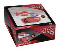 Tênis Carros Disney com Luzes e Rodinhas Tamanho 34 - DTC -