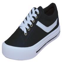 Tênis Casual Star Feet Infantil FI015C Preto/Branco -