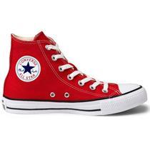712bbead Tênis Converse All Star Chuck Taylor As Core HI Vermelho Preto CT00040004 -