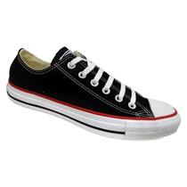 Tenis ct as core ox ct00010007 - all star (01) - preto/vermelho