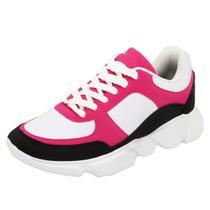 Tênis Dad Sneaker Chunky Feminino Casual Selten Preto -