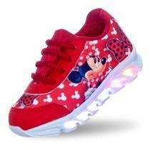 Tenis de led meninas infantil feminino minnie vermelha - Pc